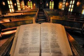 Bible-on-a-pulpit